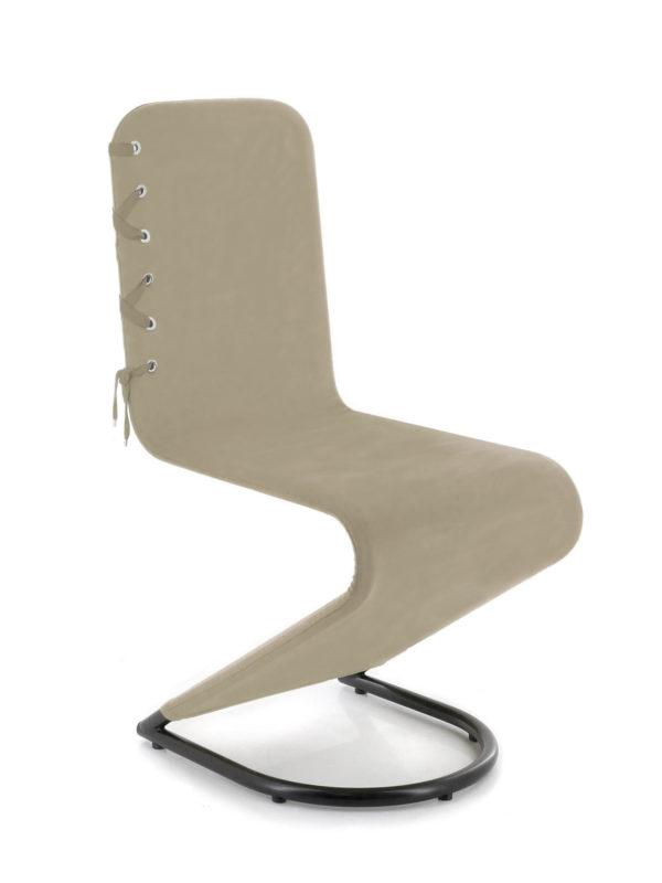 Chaise noir mat et housse lacee nathalie chaize for Housse compactor avis